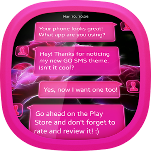 Neon Roses for GO SMS